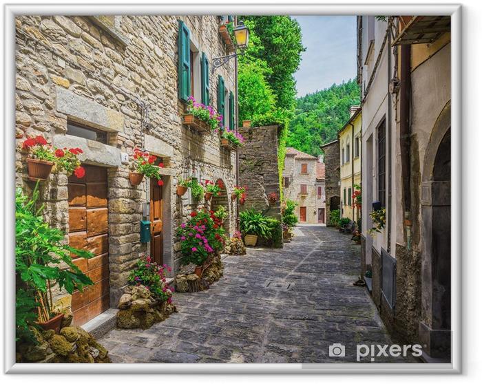 Plakat w ramie Włoski ulicy w małym prowincjonalnym miasteczku toskański - Tematy