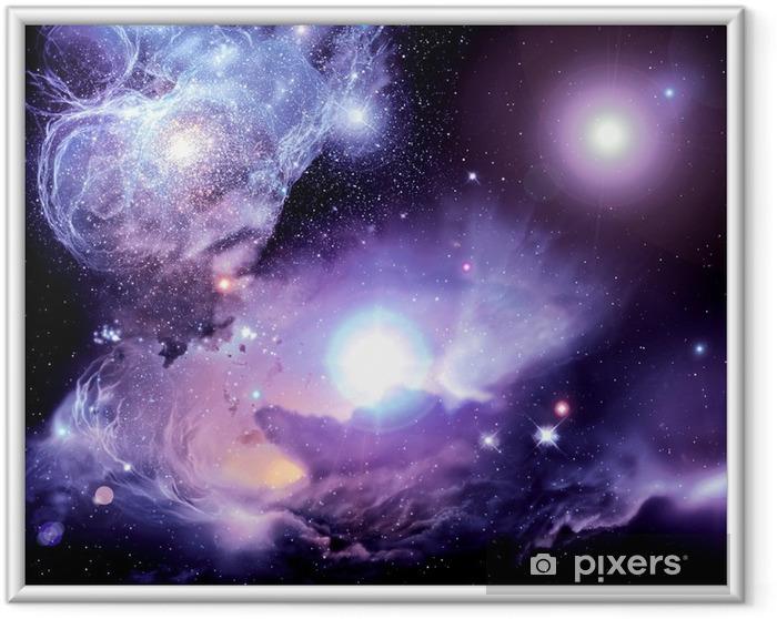 Poster en cadre Nébuleuse Fantasy Space - Univers