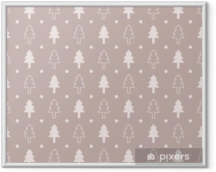 Ingelijste Poster Vintage Christmas naadloze patroon ontwerp - Grafische Bronnen