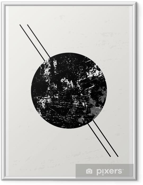 Abstrakt Geometrisk Sammensætning Indrammet plakat - Grafiske Ressourcer