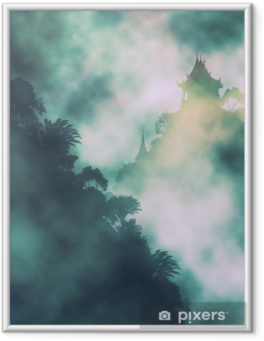 Poster in Cornice Tempio di montagna Mystic - Panorami