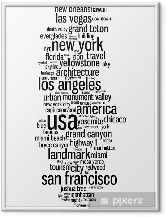 Plakat w ramie USA - Ameryka