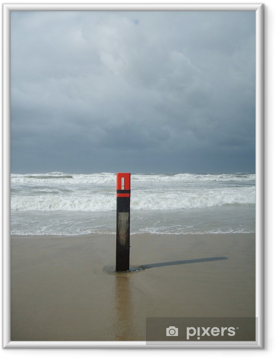 Ingelijste Poster Sturm auf Texel - Europa