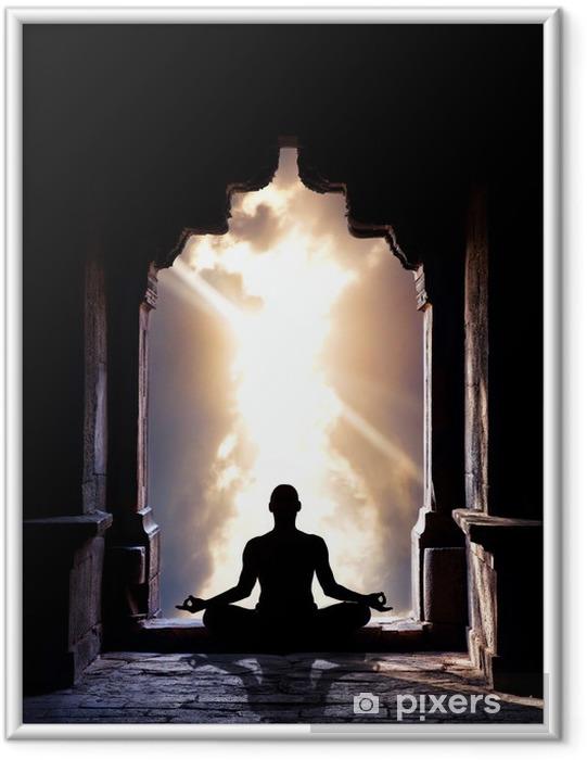 Plakat w ramie Medytacja w świątyni - Zdrowie