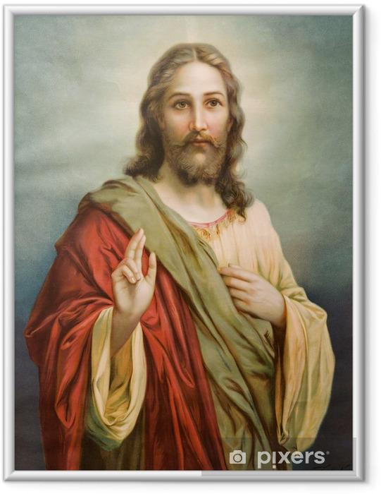 Poster en cadre Copie de l'image catholique typique de Jésus-Christ - Thèmes