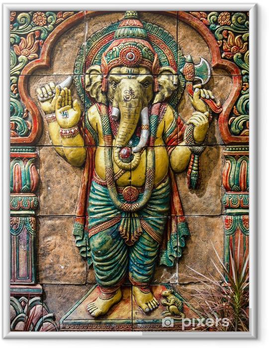 Ingelijste Poster Hindoe God ganesha bij tempel in thailand - Achtergrond