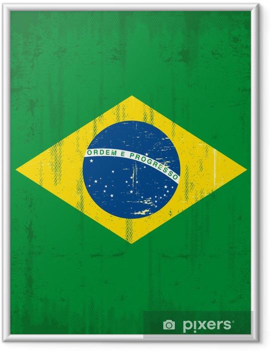 Plakat w ramie Brazylijski pionowe grunge - Brazylia