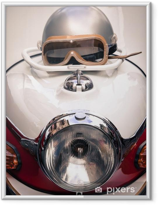 Poster en cadre Détail d'un vétéran de la moto - Thèmes
