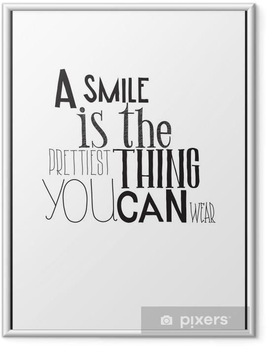 Plakát v rámu Jednoduché černé a bílé plakát s motivačním frází -