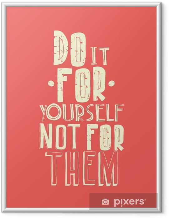 Gerahmtes Poster Zitat, inspirierend Plakat, typografische Gestaltung - Business