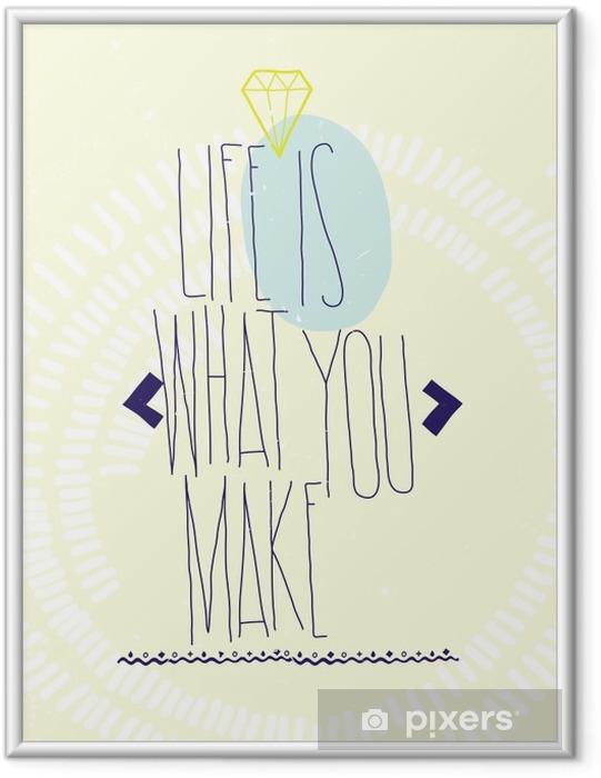 Poster en cadre Motivation d'inspiration simple cite affiche avec diamant, dood - Business