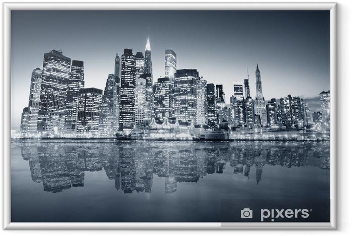 Plakat w ramie Manhattan Nowy Jork -