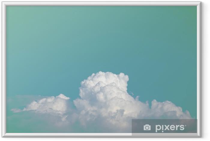 Ingelijste Poster Abstracte zachte wolkenhemel met verloop pastel vintage kleur voor achtergrond gebruik - Grafische Bronnen
