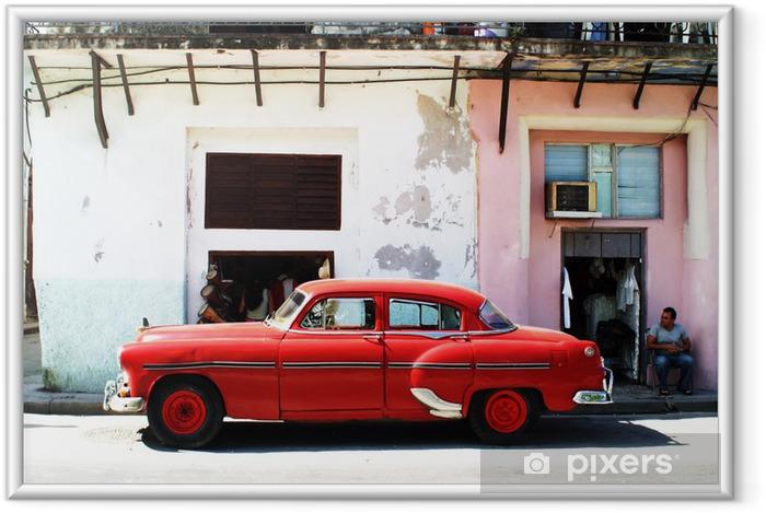 Plakat w ramie Havana samochod - Kuba