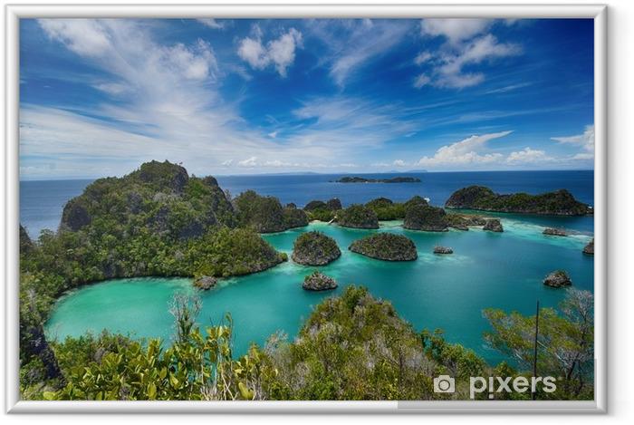 Plakat w ramie Wyspy pianemo w archipelagu raja ampat (Indonezja) - Krajobrazy