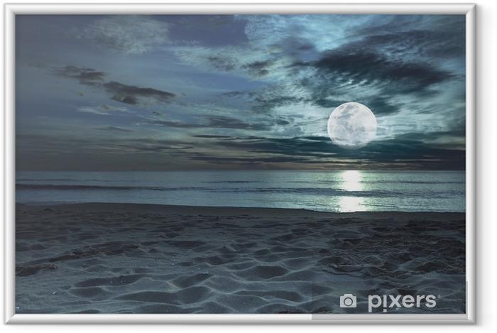 Poster en cadre Clair de lune - Thèmes