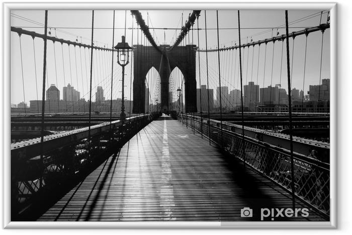 Plakat w ramie Brooklyn Bridge, Manhattan, Nowy Jork, USA -