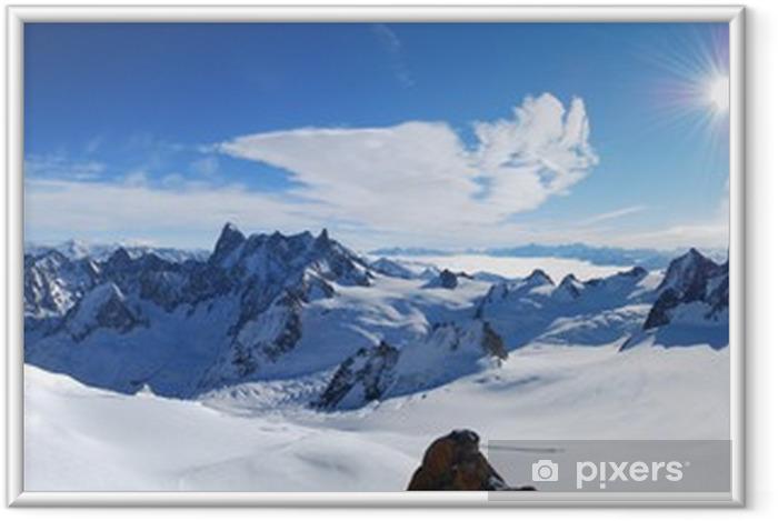 Plakat w ramie Mont Blanc - Europa