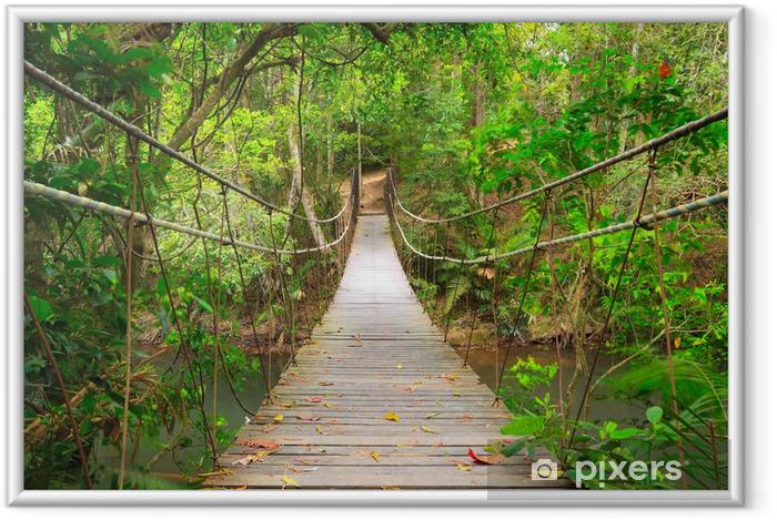 Póster Enmarcado Puente a la selva, Khao Yai National Park, Tailandia - Estilos