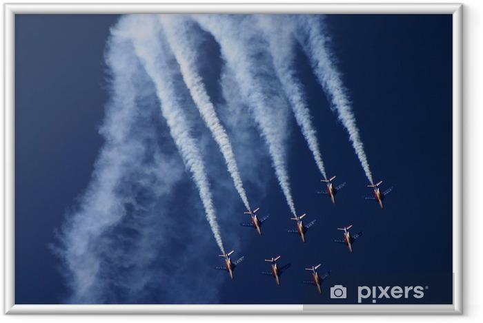 Ingelijste Poster Patrouilleren Frankrijk - Lucht