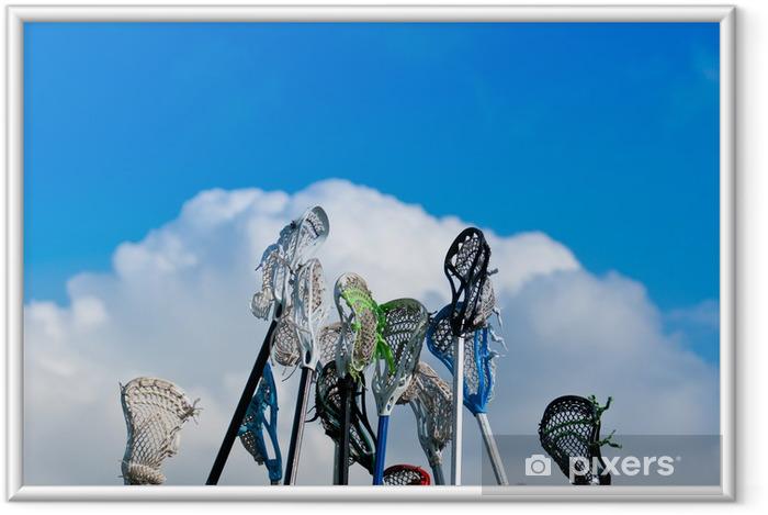Innrammet plakat Lacrosse pinner i himmelen - Lagidrett