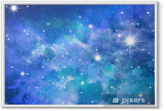 Stjerner himmel Indrammet plakat -