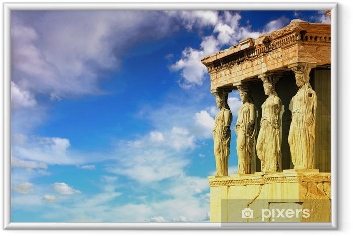 Ingelijste Poster Kariatiden, Erechtheion tempel Akropolis - Stijlen
