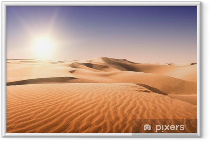 Póster Enmarcado Oro del desierto. - Temas