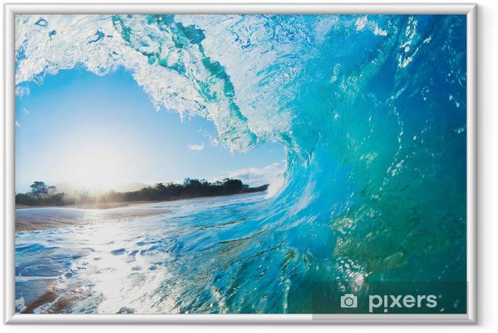 Poster en cadre Bleu Ocean Wave - Thèmes