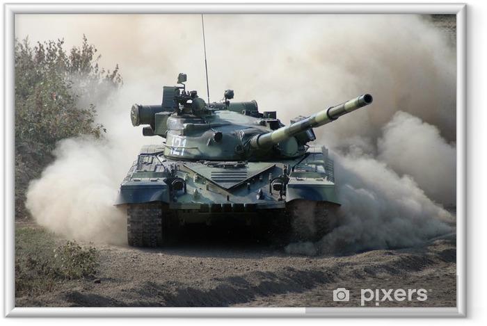Plakat w ramie War. Tank w ruchu - Tematy