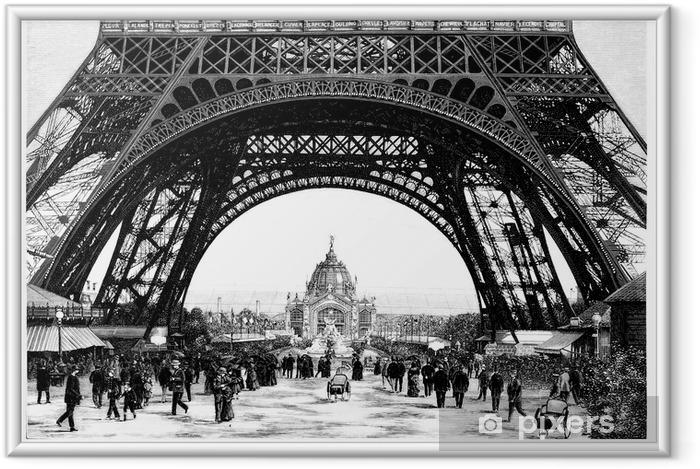 Plakat w ramie Paryż - Wieża Eiffla - 19 w. - Tematy