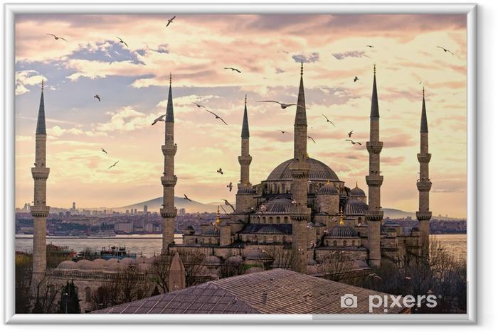 Ingelijste Poster De Blauwe Moskee, Istanbul, Turkije. - iStaging