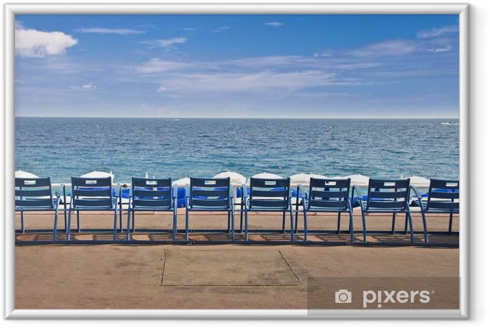 Poster en cadre Chaises sur la Promenade des Anglais - Nice, France - Vacances