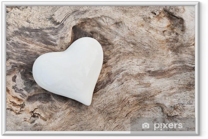 Poster i Ram Vit Hjärta - Stilar