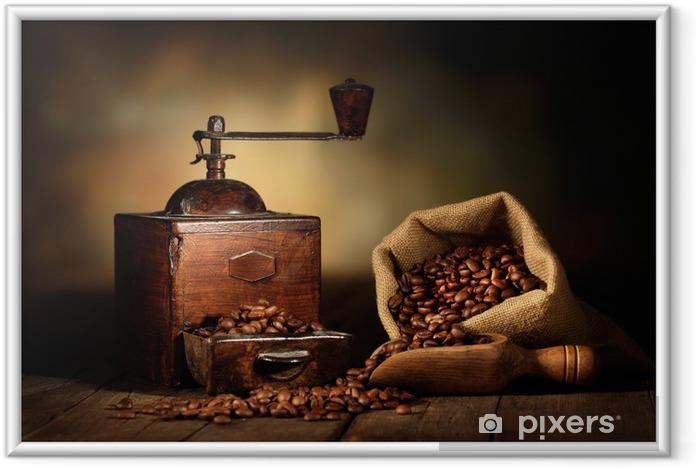 Poster en cadre Moulin à café antique -
