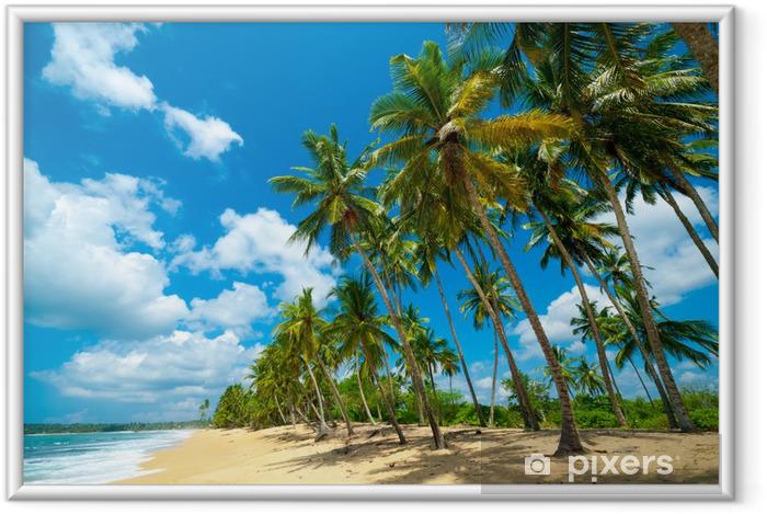 Plakat w ramie Tropikalna plaża - Woda