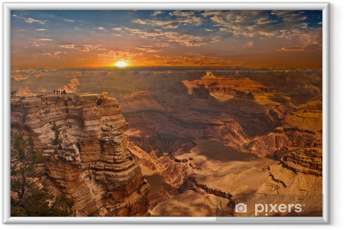 Poster i Ram Grand Canyon Sunset - Amerika