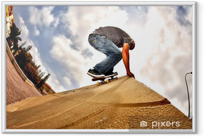 Póster Enmarcado Patineta hdr - Skate