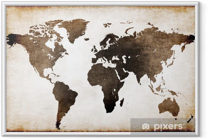 Póster Enmarcado Mapa mundi antiguo - Temas