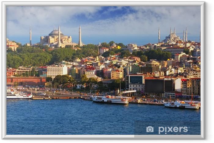 Póster Enmarcado Estambul desde la Torre Gálata, Turquía - Temas