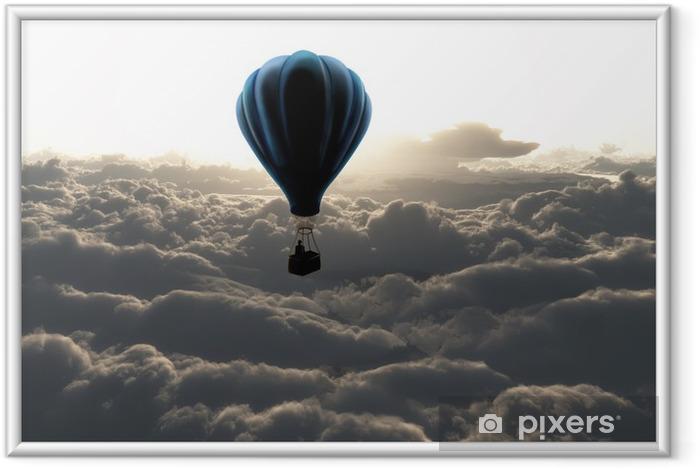 Plakát v rámu Balon na obloze - Styly