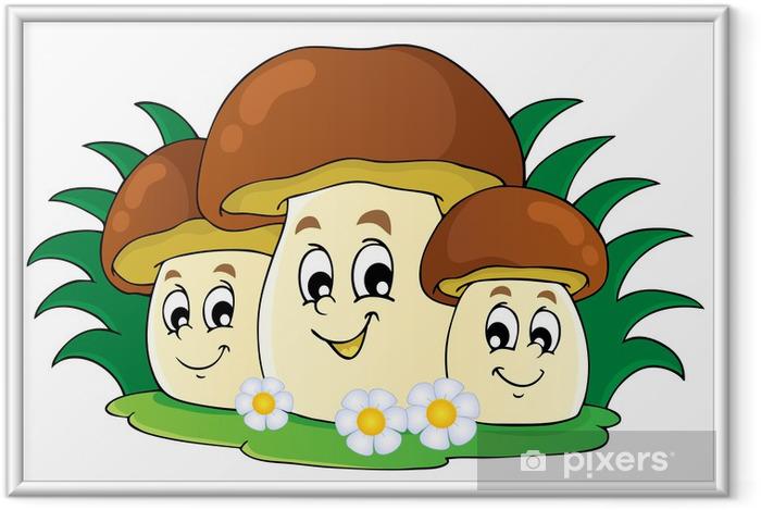 Poster en cadre Image Mushroom thème 7 - Champignons
