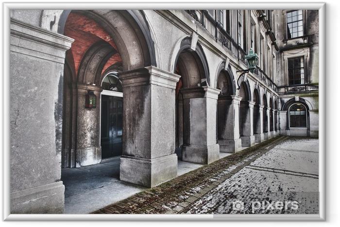 Ingelijste Poster Traditionele stenen bogen - Binnenhof, Den Haag, Nederland - Thema's