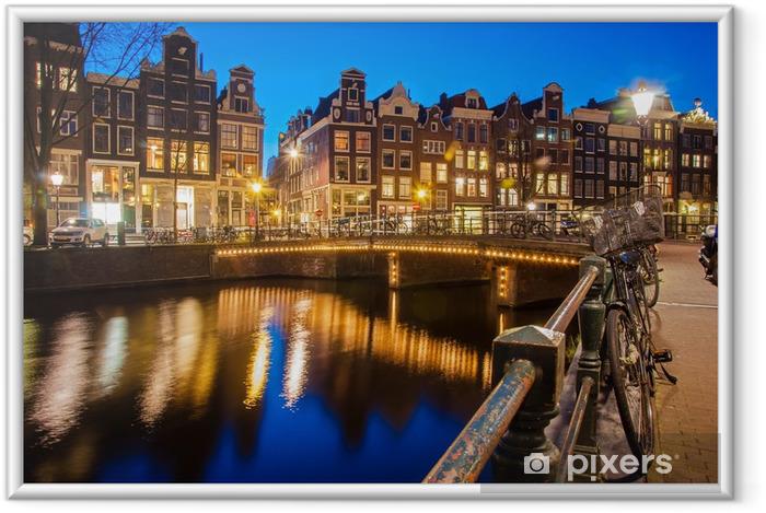 Amsterdam Indrammet plakat -