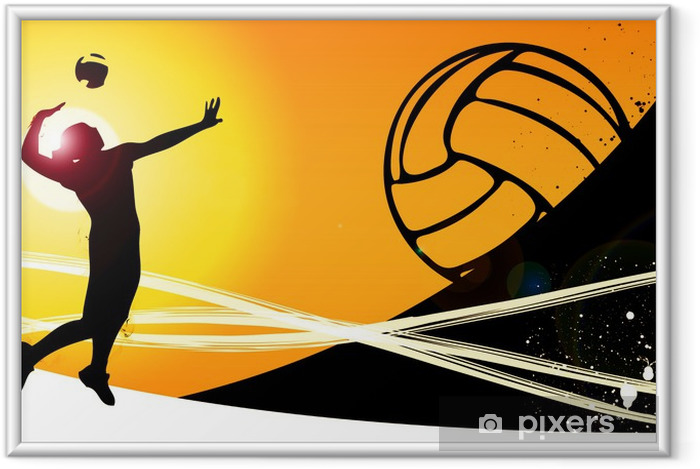 Poster en cadre Volley-ball fond - Thèmes
