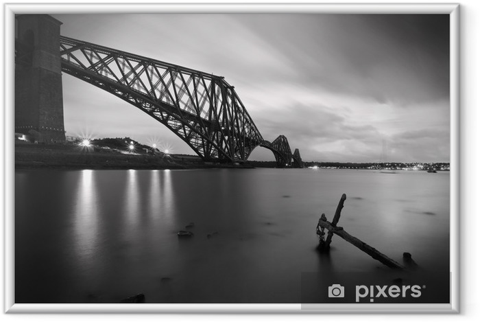 Ingelijste Poster De Forth Rail Bridge kruising tussen Fife en Edinburgh, Scotl - Thema's