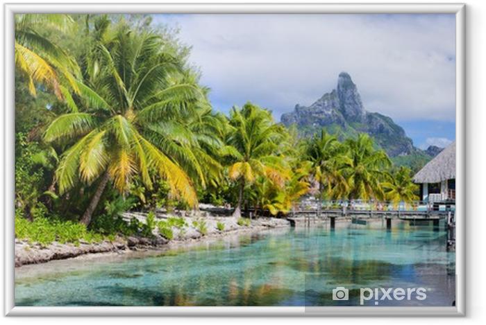 Ingelijste Poster Bora Bora panorama - Thema's