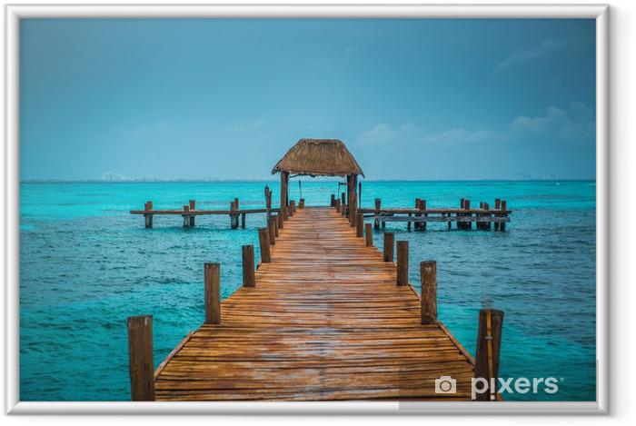 Caribbean pier Framed Poster - Themes
