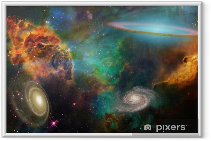 Deep space Indrammet plakat -