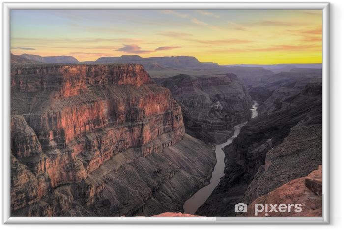 Poster i Ram HDR, Toroweap Point Sunset, Grand Canyon National Park - Öknar